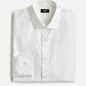 J. Crew Ludlow Stretch Cotton White Shirt 17 1/2